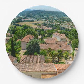 Campagne française en photographie de la Provence Assiettes En Papier