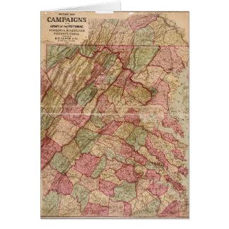 Campagne militaire de Potomac de carte de guerre