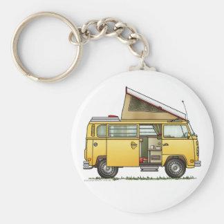 Campmobile Camper Van Keychain Basic Ronde Button Sleutelhanger