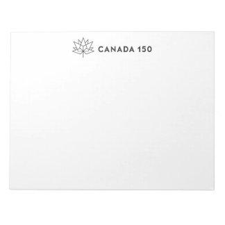 Canada 150 het Officiële Horizontale Zwarte Notitieblok