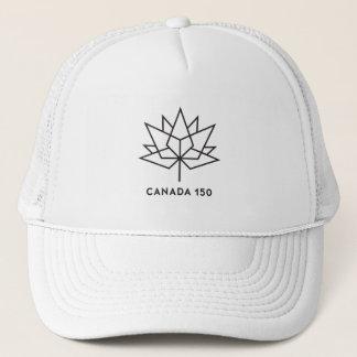 Canada 150 Officieel Logo - Zwart Overzicht Trucker Pet