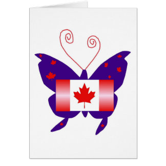 Canadian Diva Butterfly Card