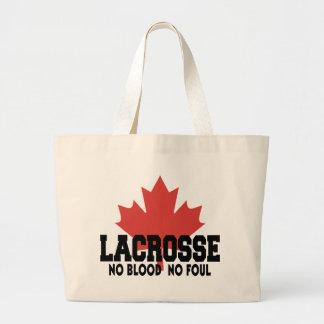 Canadien de lacrosse du Canada Sac En Toile Jumbo
