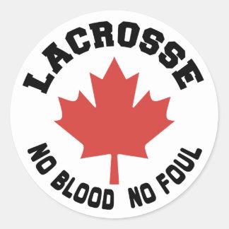 Canadien de lacrosse du Canada Sticker Rond