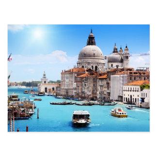 Canal de Venise dans la carte postale d'été