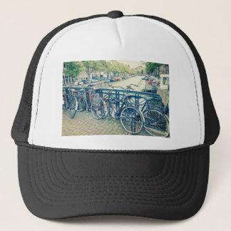 Canal et bicyclettes d'Amsterdam Casquette
