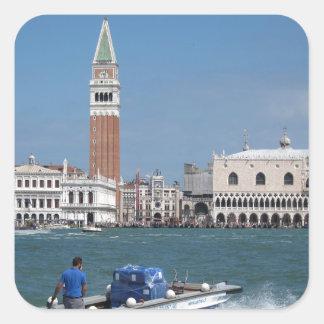Canal grand de Venise Sticker Carré