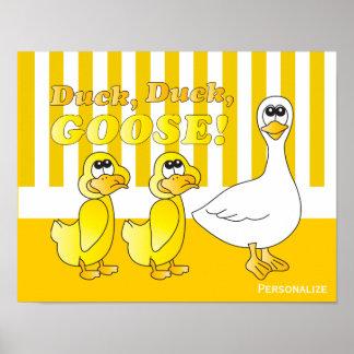 Canard, canard, thème de crèche de bébé d'oie