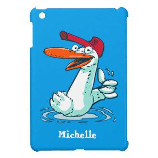 canard doux sur la bande dessinée de lac coque pour iPad mini
