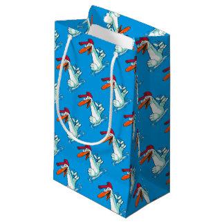 canard doux sur la bande dessinée de lac petit sac cadeau