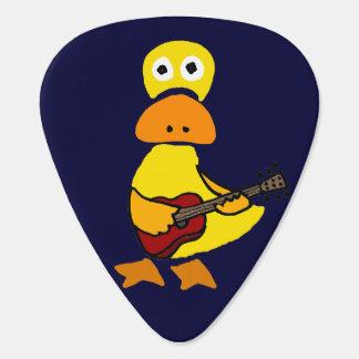 Canard drôle jouant l'onglet de guitare de guitare onglet de guitare