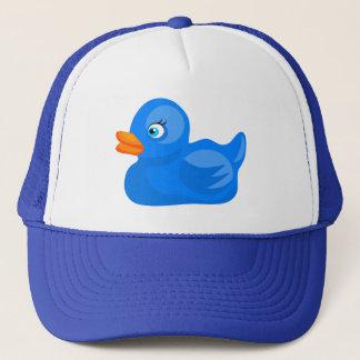 Canard en caoutchouc bleu casquette