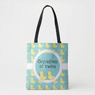 Canards jaunes sur la grand-maman turquoise du sac