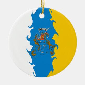 Canary Islands Gnarly Flag Ornaments