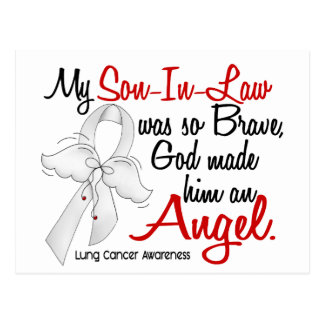 Cancer de poumon de beau-fils de l'ange 2 carte postale