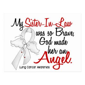 Cancer de poumon de belle-soeur de l'ange 2 carte postale