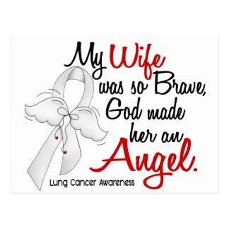 Cancer de poumon d'épouse de l'ange 2 carte postale