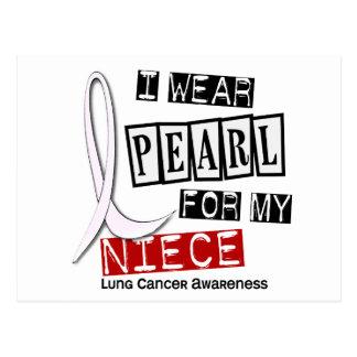 Cancer de poumon JE PORTE la nièce de la PERLE 37 Carte Postale