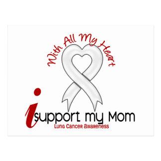 Cancer de poumon je soutiens ma maman carte postale