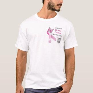 Cancer du sein de modèle de T-shirt