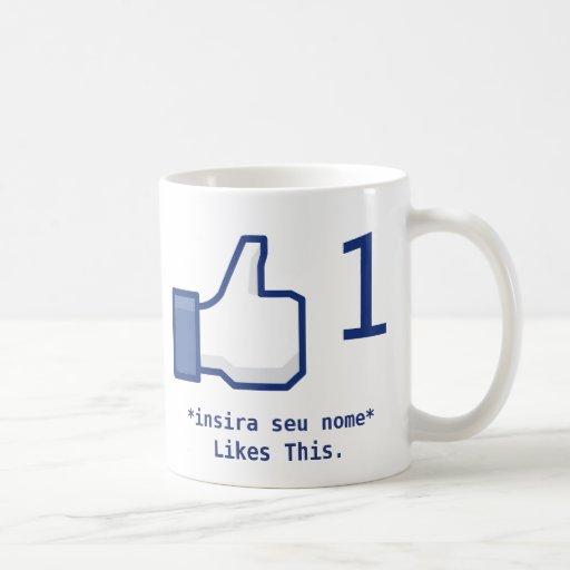 Canette «Likes This» Facebook (Personalizável) Tasse À Café
