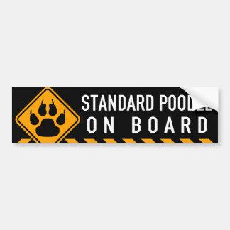 Caniche standard à bord autocollant de voiture