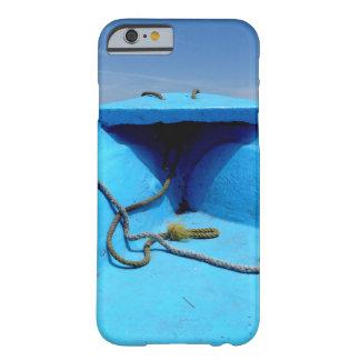 Canoë bleu avec la corde coque barely there iPhone 6