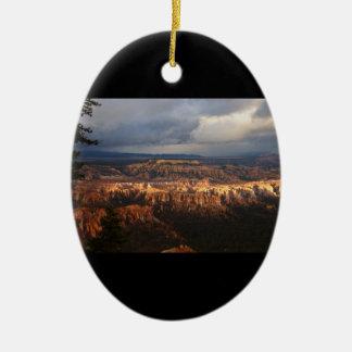 Canyon de Bryce Ornement Ovale En Céramique