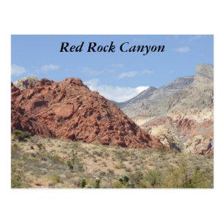 Canyon rouge de roche, désert de Mojave, près de Cartes Postales