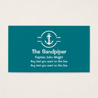 Capitaine cartes de visite de bateau