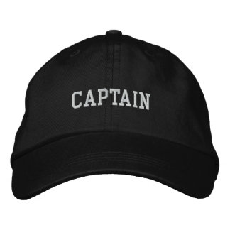 Capitaine Embroidered Hat Casquette De Baseball Brodée