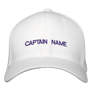 Capitaine Embroidered Hat Casquettes Brodées