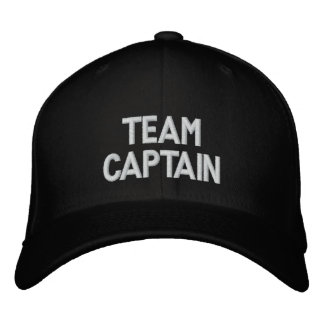 Capitaine Embroidered Hat d'équipe Casquette De Baseball Brodée