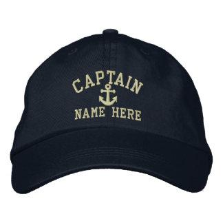 Capitaine - personnalisable casquettes brodées
