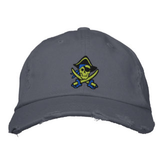 Capitaine Skull Embroidered Cap de pirate Casquette De Baseball Brodée