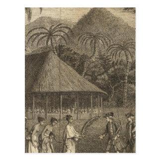 Capitaine Wallis et Tahitians Cartes Postales