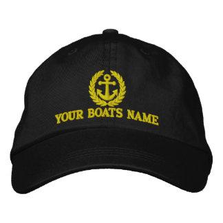 Capitaines personnalisés de bateau à voile casquettes brodées