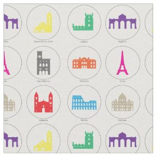 Capitales européennes tissu