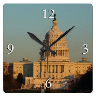 Capitol à la photo de vacances de Washington DC de Horloge Carrée