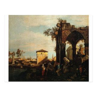 Capriccio avec des ruines et Porta Portello à Carte Postale