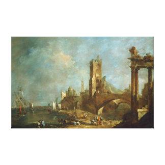 Capriccio d'une copie de toile de port