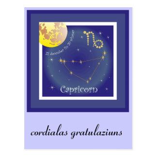 Capricorn de 22 fin 20 december de carte postale