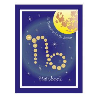 Capricorne 22 décembre au 20 janvier carte postale
