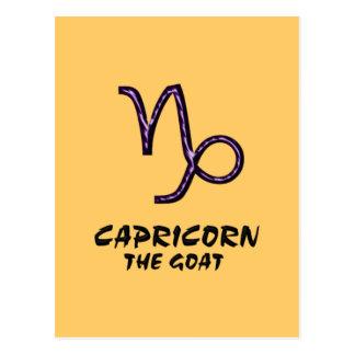 Capricorne la carte postale de chèvre