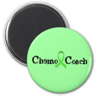 Car de chimio - ruban vert magnet rond 8 cm