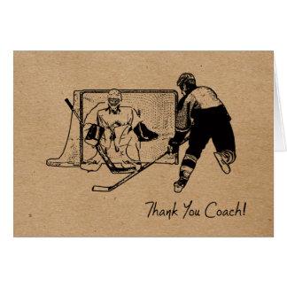 Car d'hockey merci ! Carte