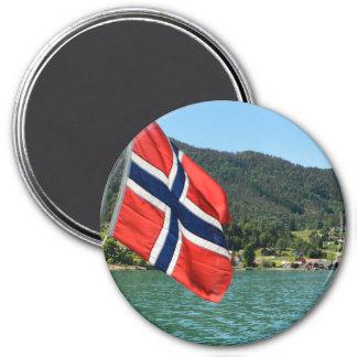 Car-ferry dans l'aimant rond de la Norvège Magnet Rond 7,50 Cm