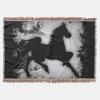  caracolant de silhouette de cheval de couverture
