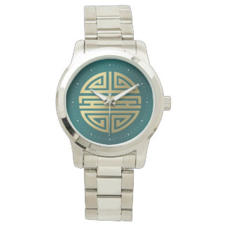 Caractère chinois impressionnant de la longévité | montres bracelet