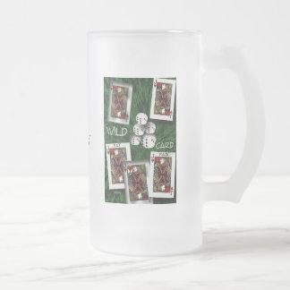 Caractère d'ambiguité frosted glass beer mug